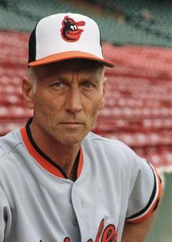 Cal Ripken Sr. Posing in Baseball Uniform