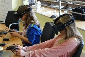 Girls navigating the virtual world