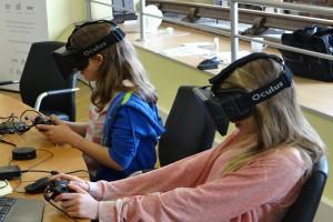 Girls navigating the virtual world