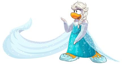 Frozen Club Penguin