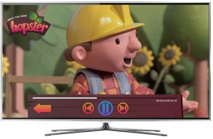 hopster-on-TV-player