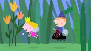 Ben and Holly flying