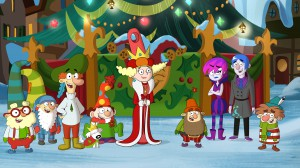 DOC, SLEEPY, LORD STARCHBOTTOM, SIR YIPSALOT, DOPEY, QUEEN DELIGHTFUL, GRUMPY, HILDY GLOOM, GRIM GLOOM, SNEEZY
