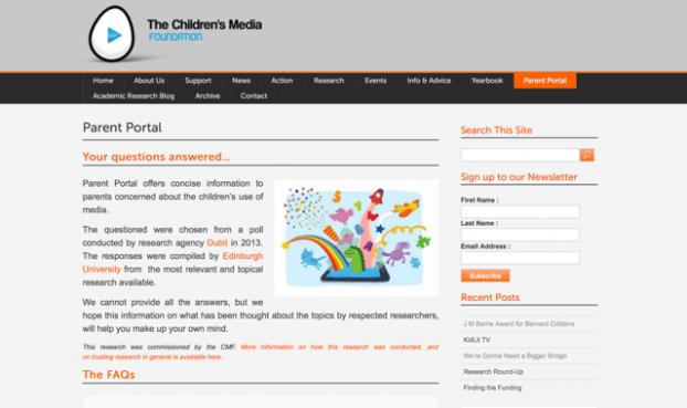 CMF Parent Portal Screen Shot