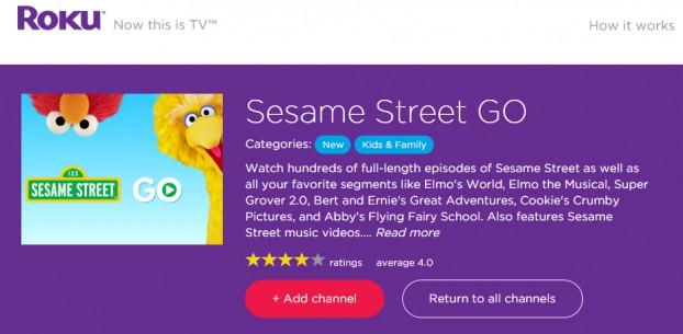 SesameStreetGoRoku