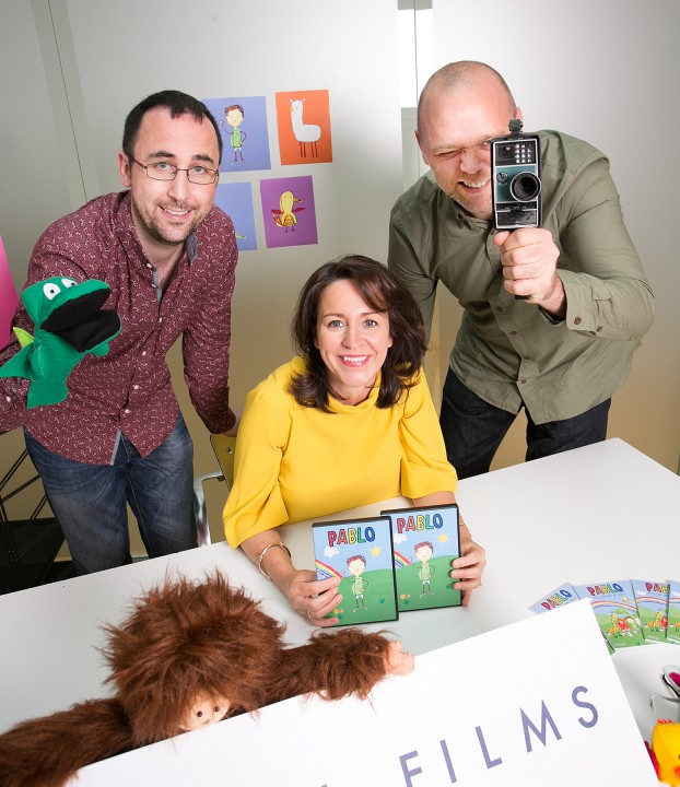 (L to R) Paper Owl Films' Gavin Halpin, Grainne McGuinness and Stephen Petticrew.