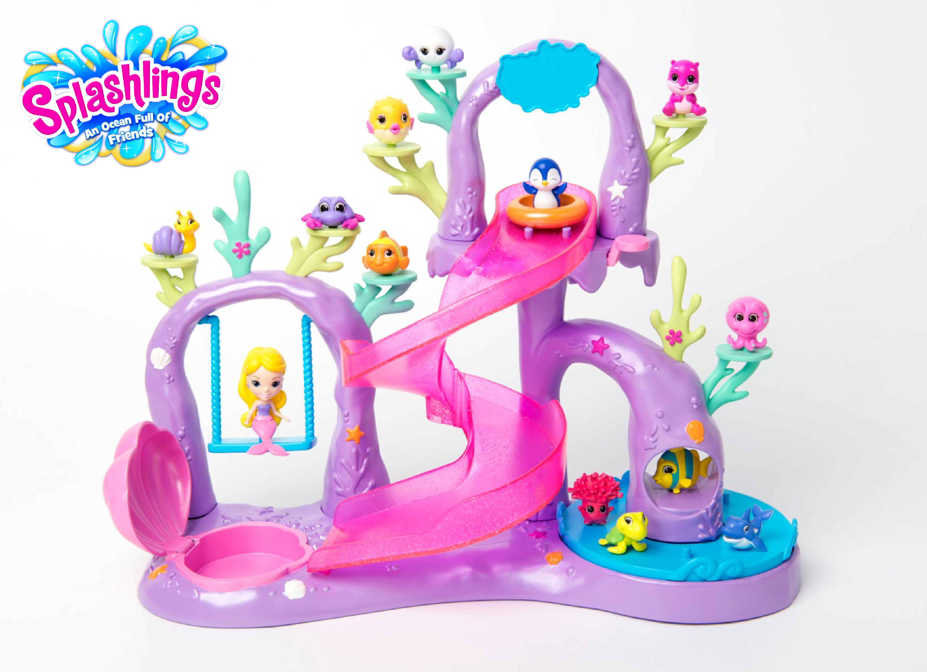 Playset with logo