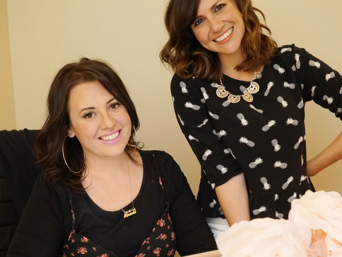 YouTubers Miranda Russo (l) and Tracy Bitterolf (r) are on the show's writing team