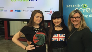 Anwen O'Driscoll (l), Star Slade (middle), Shaftesbury/Smokebomb/shift2 CEO Christina Jennings (r)