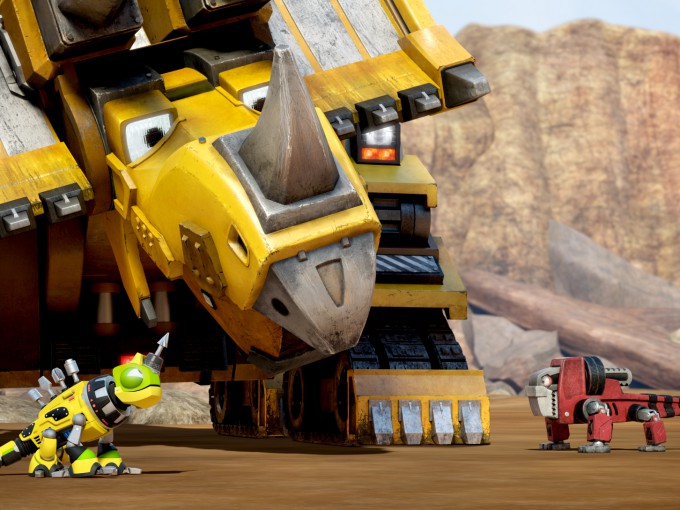 Skipping the traditional 12-month waiting period, DreamWorks released toys almost day-and-date with the premiere of Dinotrux on Netflix
