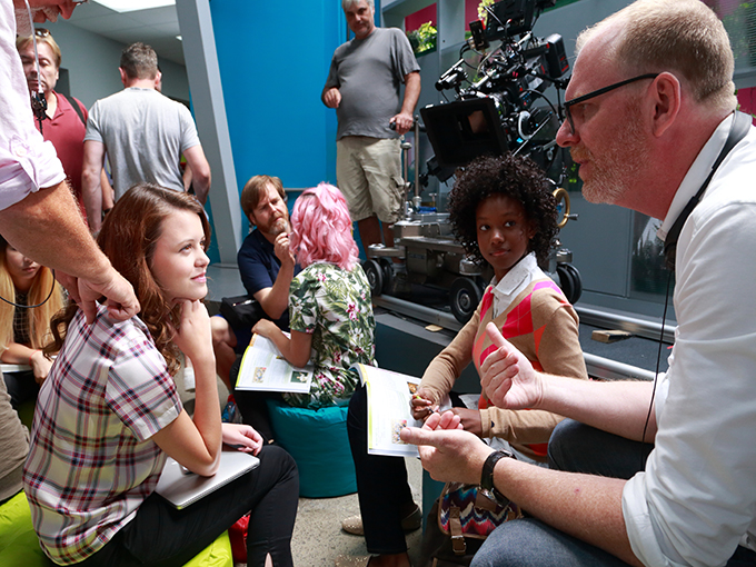 Director Stefan Brogren on the set of Degrassi: Next Class