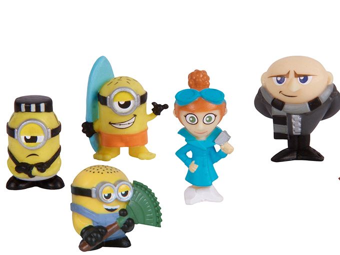 The Despicable Me 3 Moose Mineez collectibles.