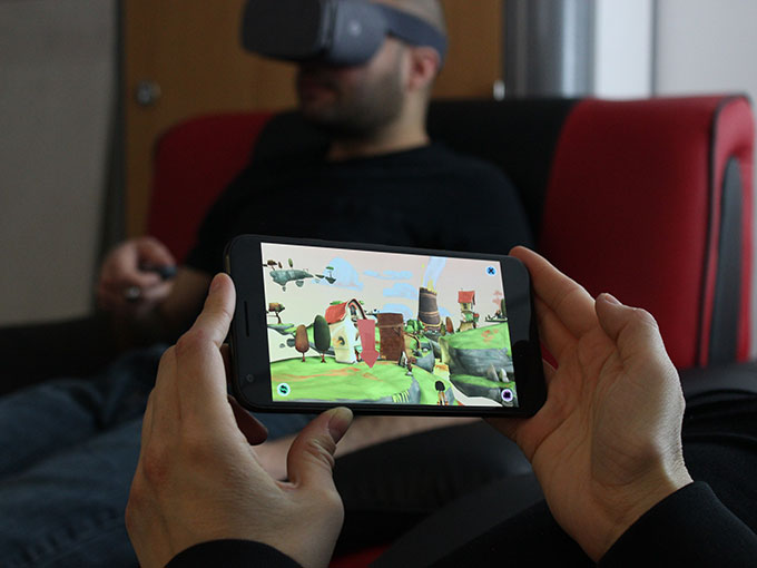 Climax Studios' mobile VR game Lola and the Giant features a companion app for a heightened social, multiplayer experience