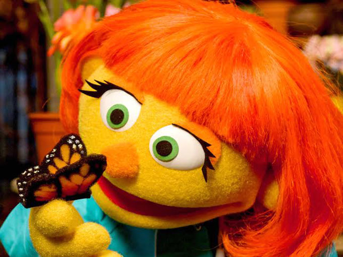 Sesame Workshop debuted autistic Muppet, Julia, digitally first