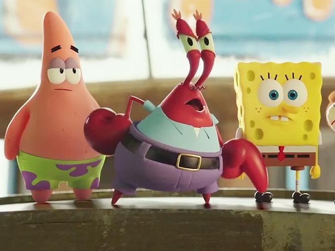 SpongeOutofWater