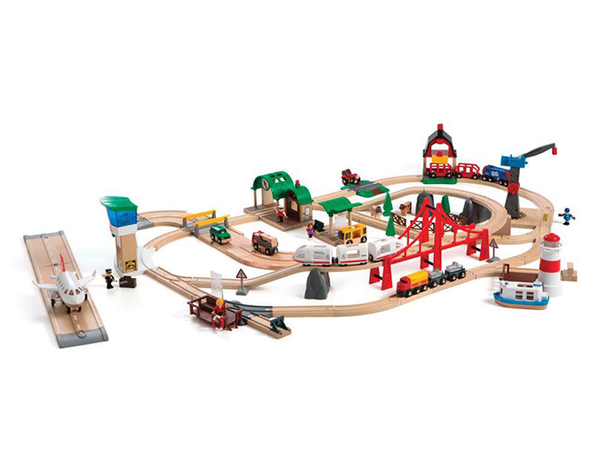The Brio train set is one of Mastermind toys specialty offerings that is hard to find anywhere else.