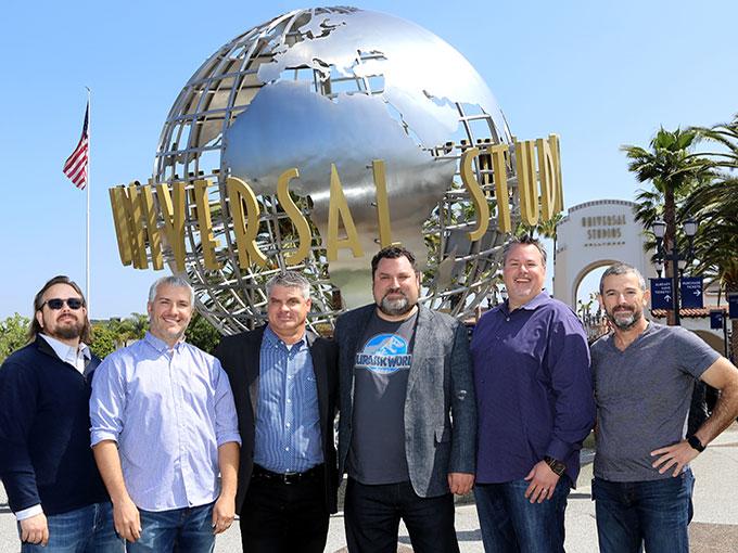Left to right: Pete Wanat, Tim FitzRandolph, Bill Kispert, Chris Heatherly, Jim Molinets and Fabian Schonholz