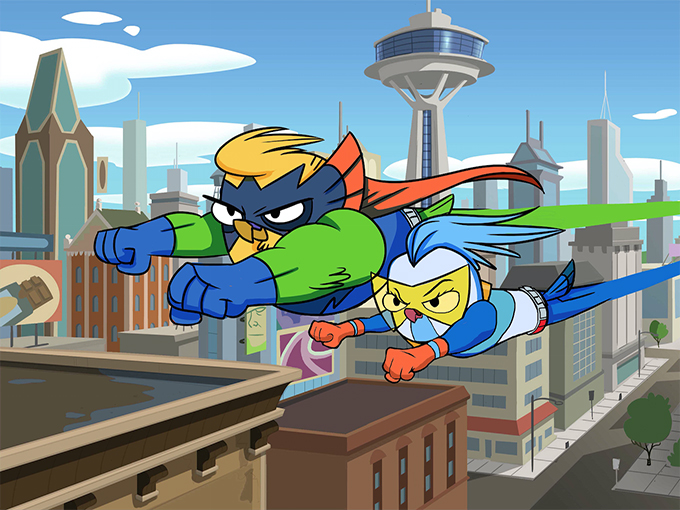 Powerbirds Flying Pose Cropped