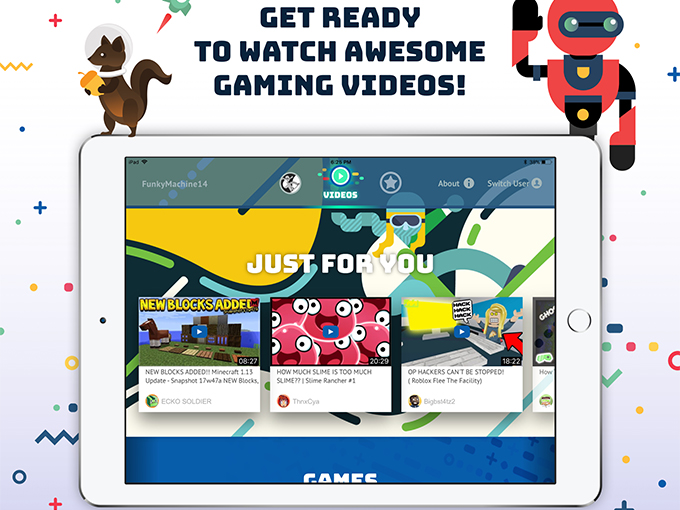 """The Tankee app features gameplay videos from publishers like Roblox and Minecraft and """"let's plays"""" from influencers including CutePlay, NyteOwl and Speedy, who collectively reach a social media audience of 50 million"""