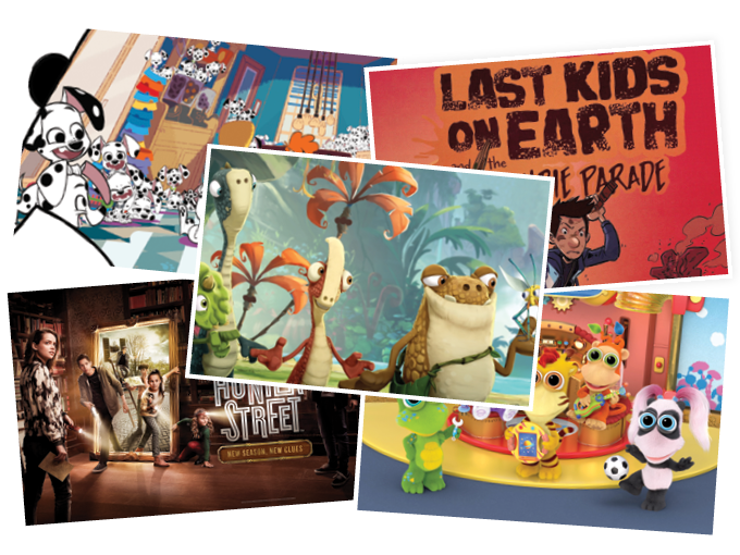 Atomic Cartoons tapped LA-based writers for its upcoming series The Last Kids on Earth, while handling animation in Vancouver (top right)