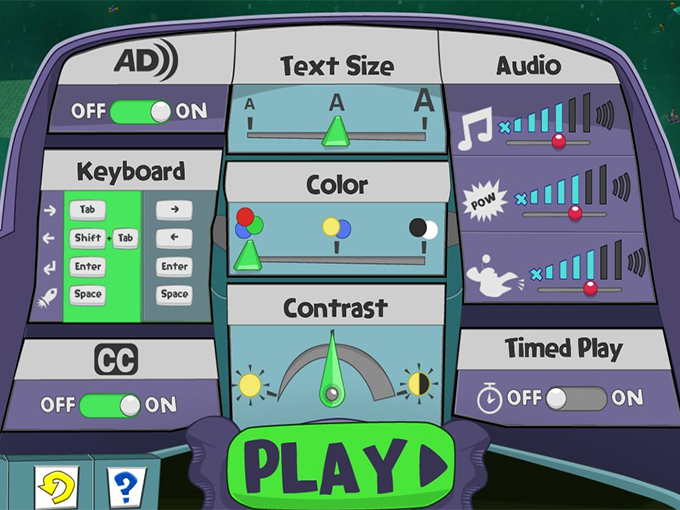 "The Railway Hero dashboard, a key element of PBS KIDS' new STEM-learning Cyberchase game, features many customizable accessibility functions and is the result of the ""born accessible"" approach to design"