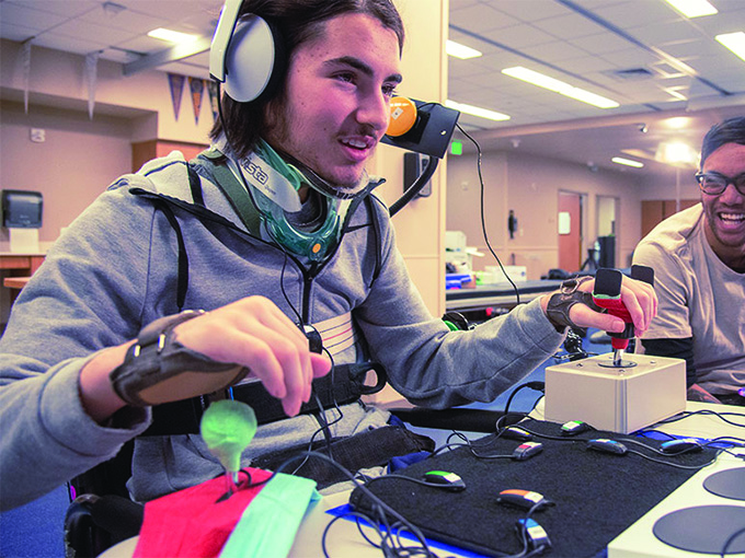 A gamer finds the right fit with the Xbox Adaptive Controller