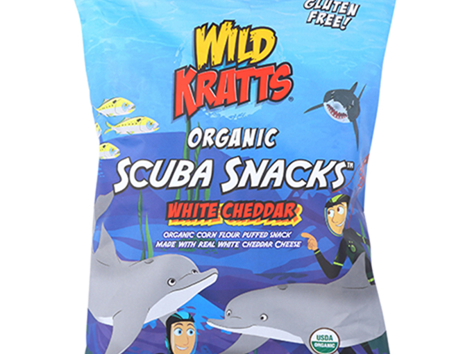 To highlight nutritional value, the Wild Kratts made nature the focus on packaging.