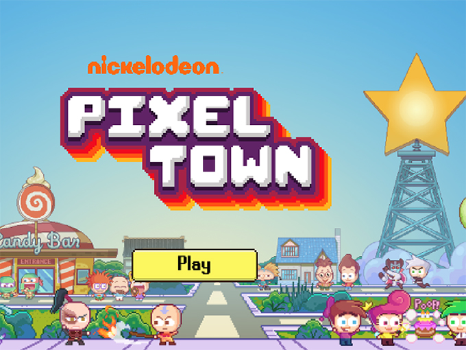 Pixel Town Homescreen