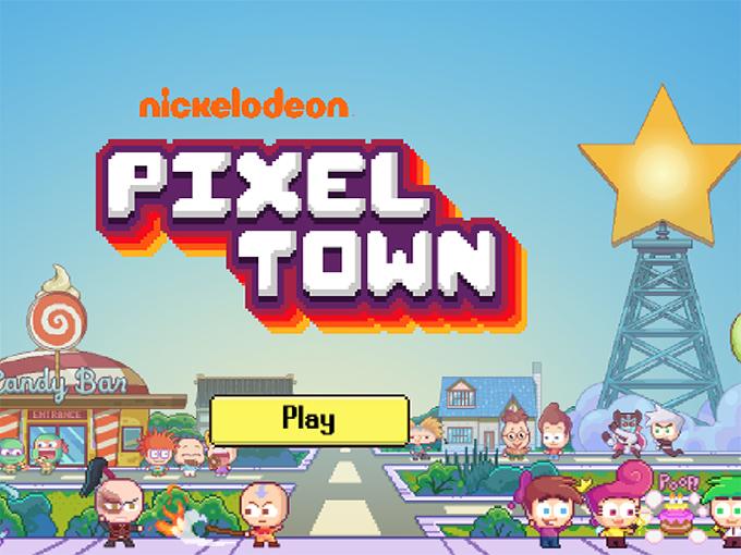 Pixel Town Homescreen