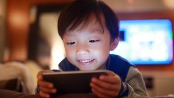 Boy Using Smart Phone