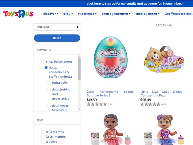 ToysRUs website