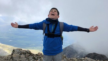 Lachlan on top of Ben Nevis