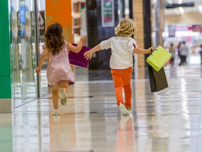 Kids shopping