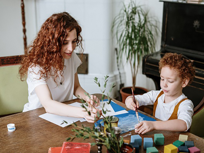 mother-and-son-painting