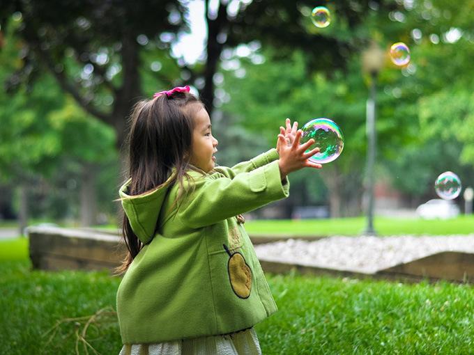 Kid at play