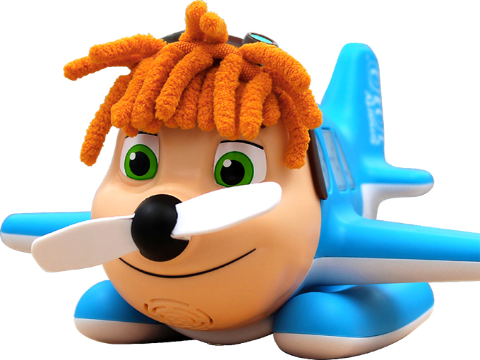 Flycatcher's Smarty JOJO airplane toy blends basic education with active play.