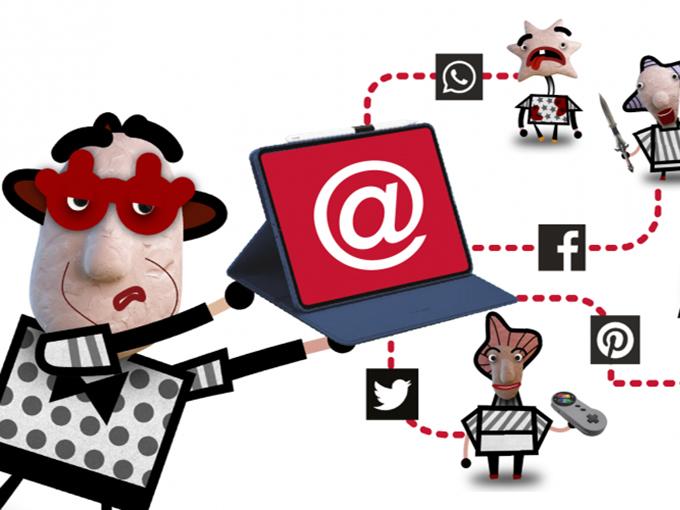 cyberspy on social media