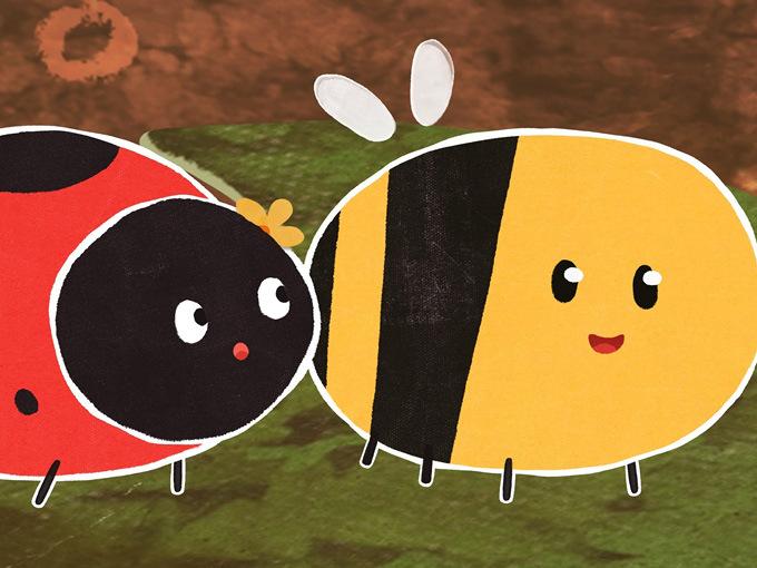 ladybird and bee (2)