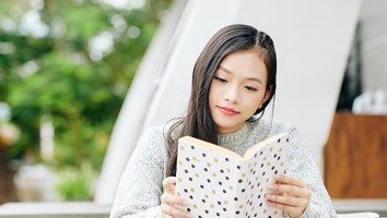 Teenage girl enjoying reading
